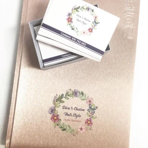 Agendas e cartões de visita